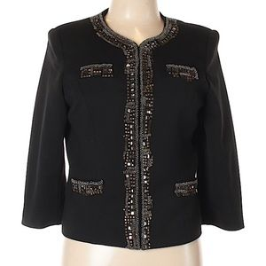 Bellatrix Beaded Embellished Black Blazer
